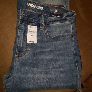 Lands End Mid Rise Denim Jeans